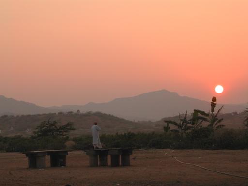tramonto al tempio